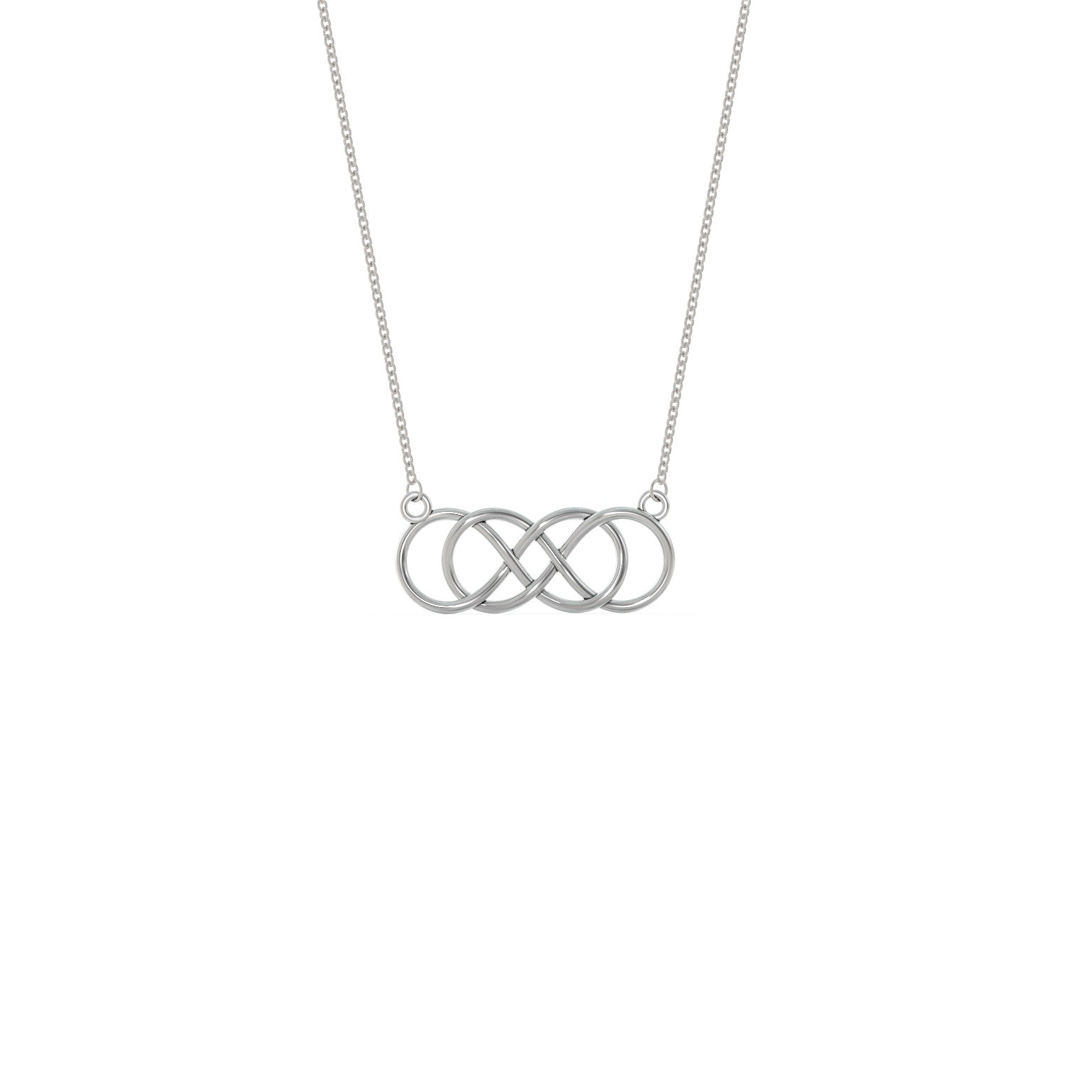 Double infinity necklace shineon double infinity necklace aloadofball Image collections