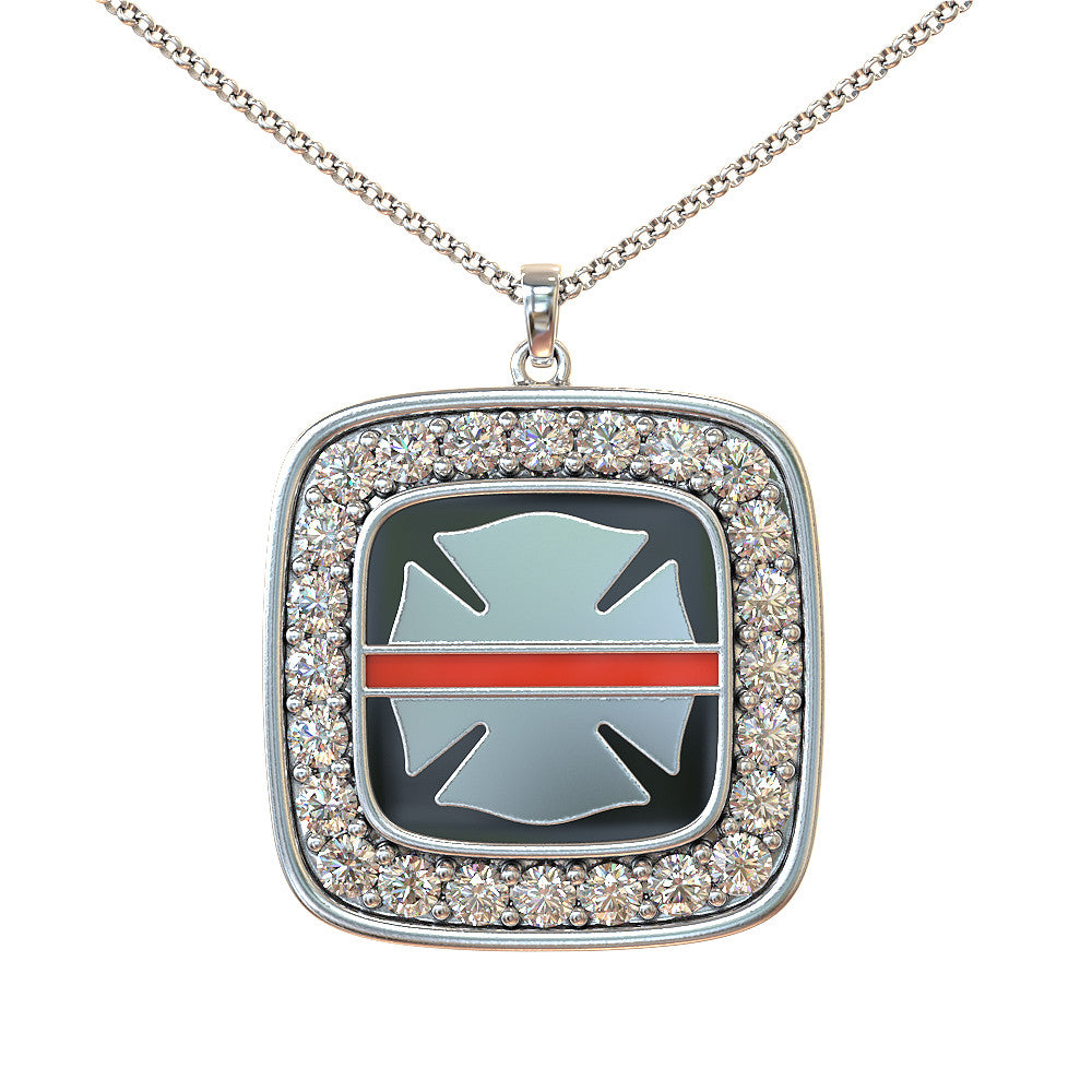 Firefighter Red Line Necklace