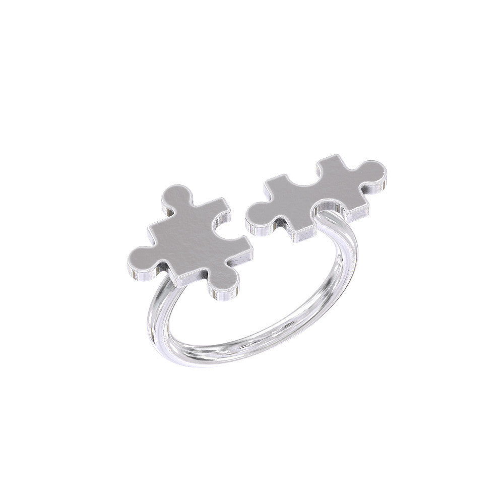 Autism Puzzle Piece Ring