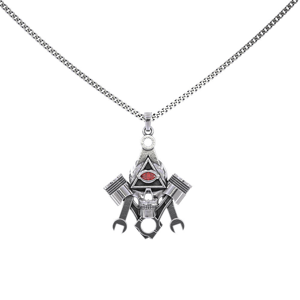 Mechanic Eye Skull Pendant
