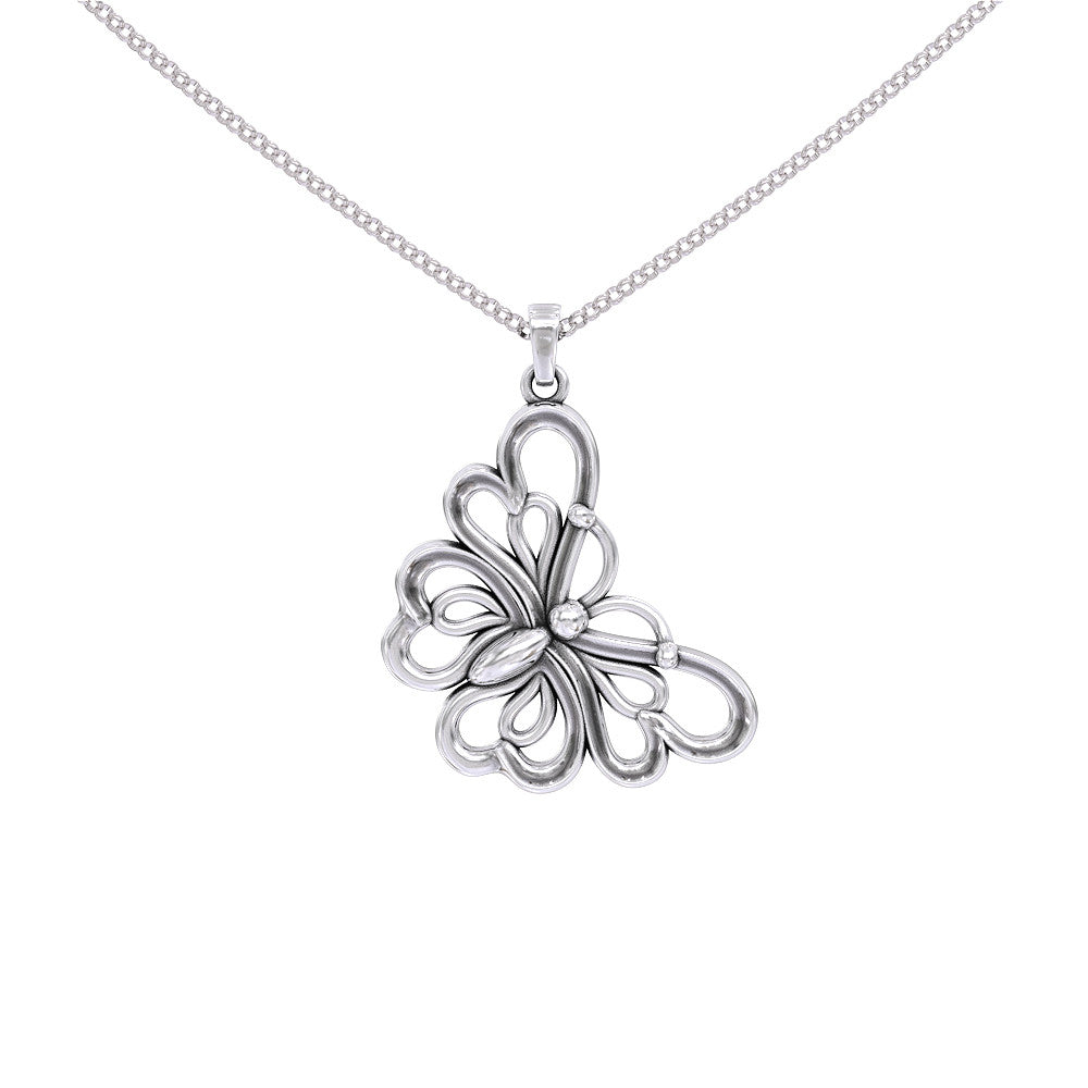 Mother Daughter Butterfly Necklace