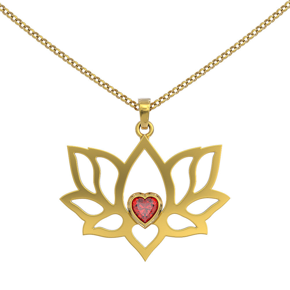 Beauty & Rebirth Lotus Pendant