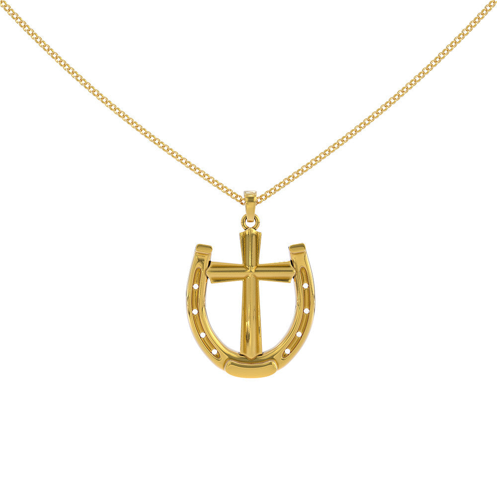 Cross Inside Horseshoe