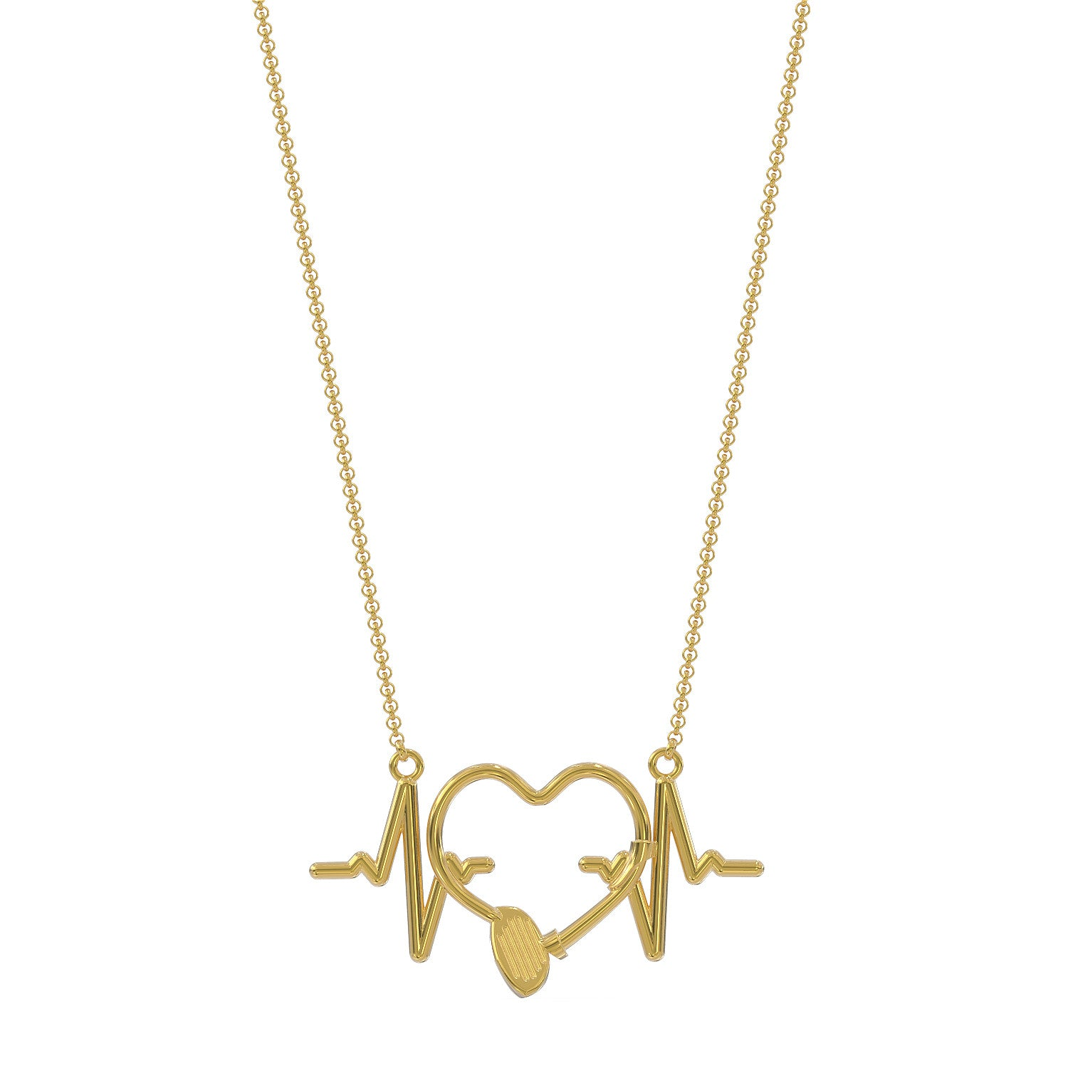 Golf Love Heartbeat Necklace