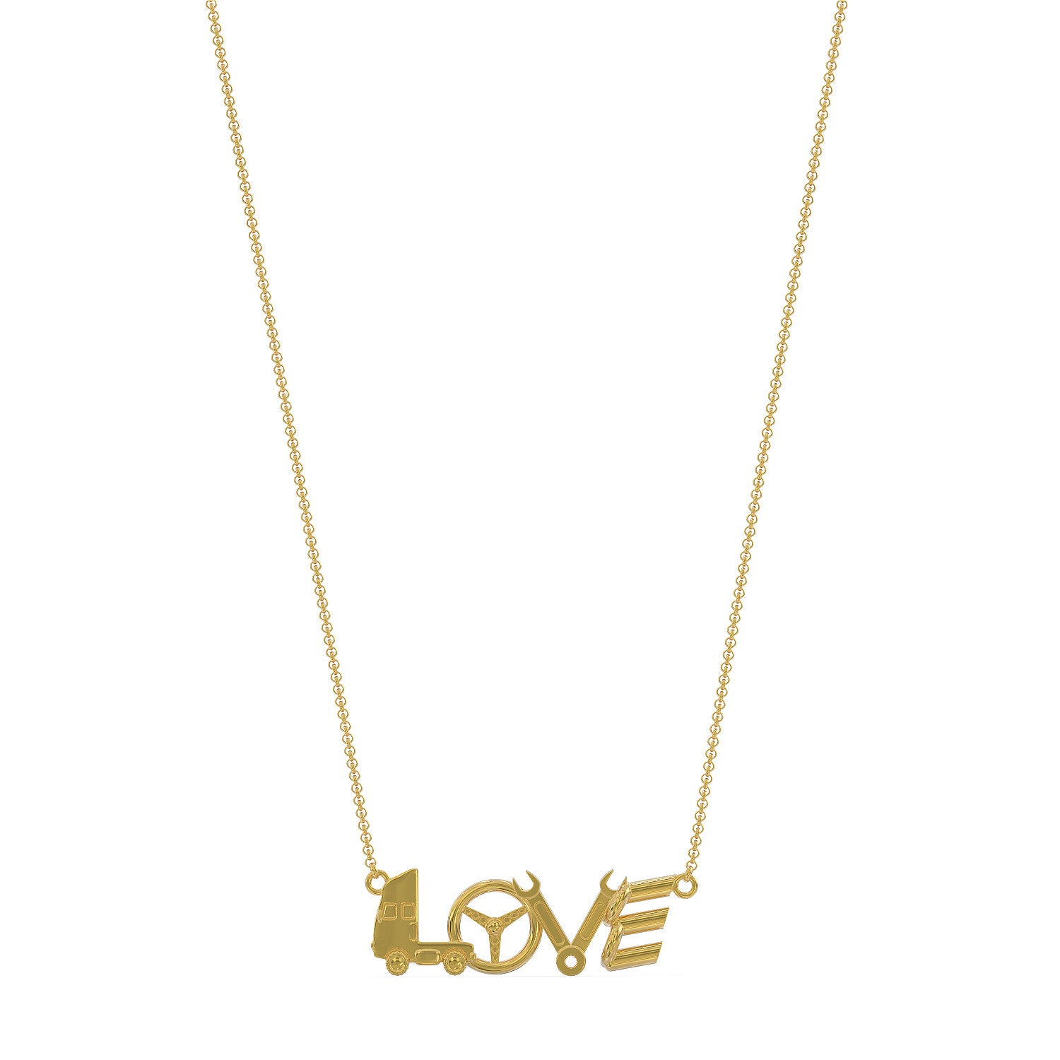 Love Truck Pennant 3 Necklace