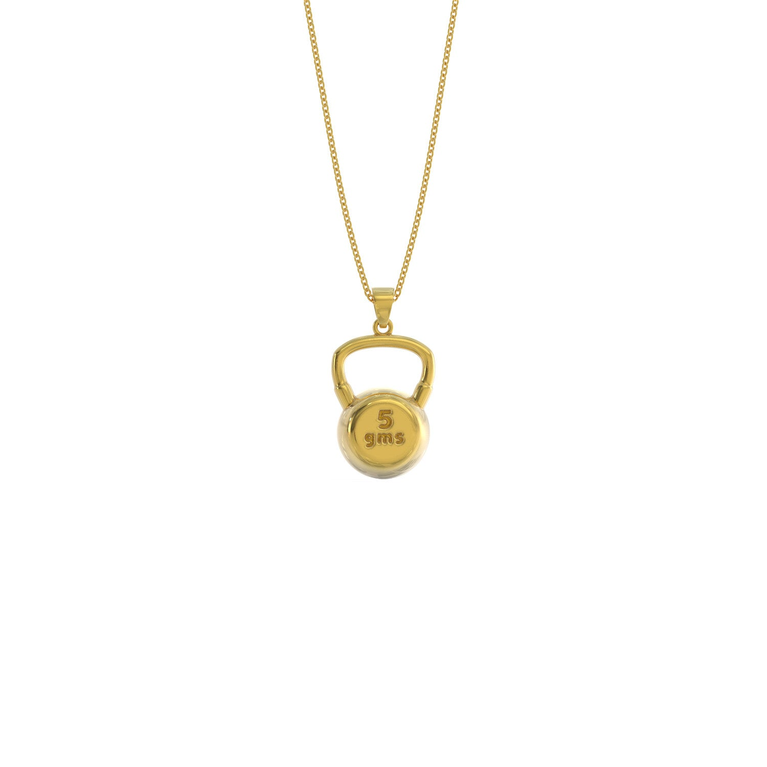 5gm Kettle Bell Necklace