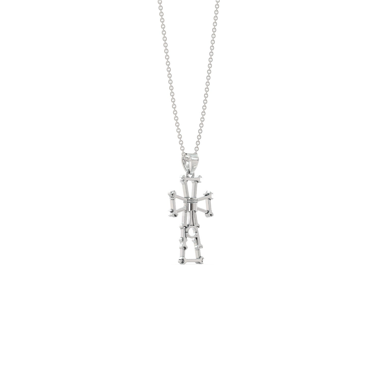 Piston Cross Necklace