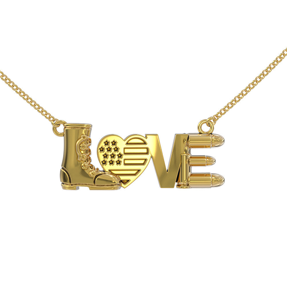 Military Love Necklace