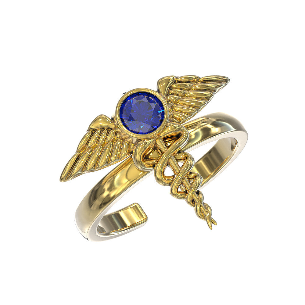 The Nurses Caduceus Ring