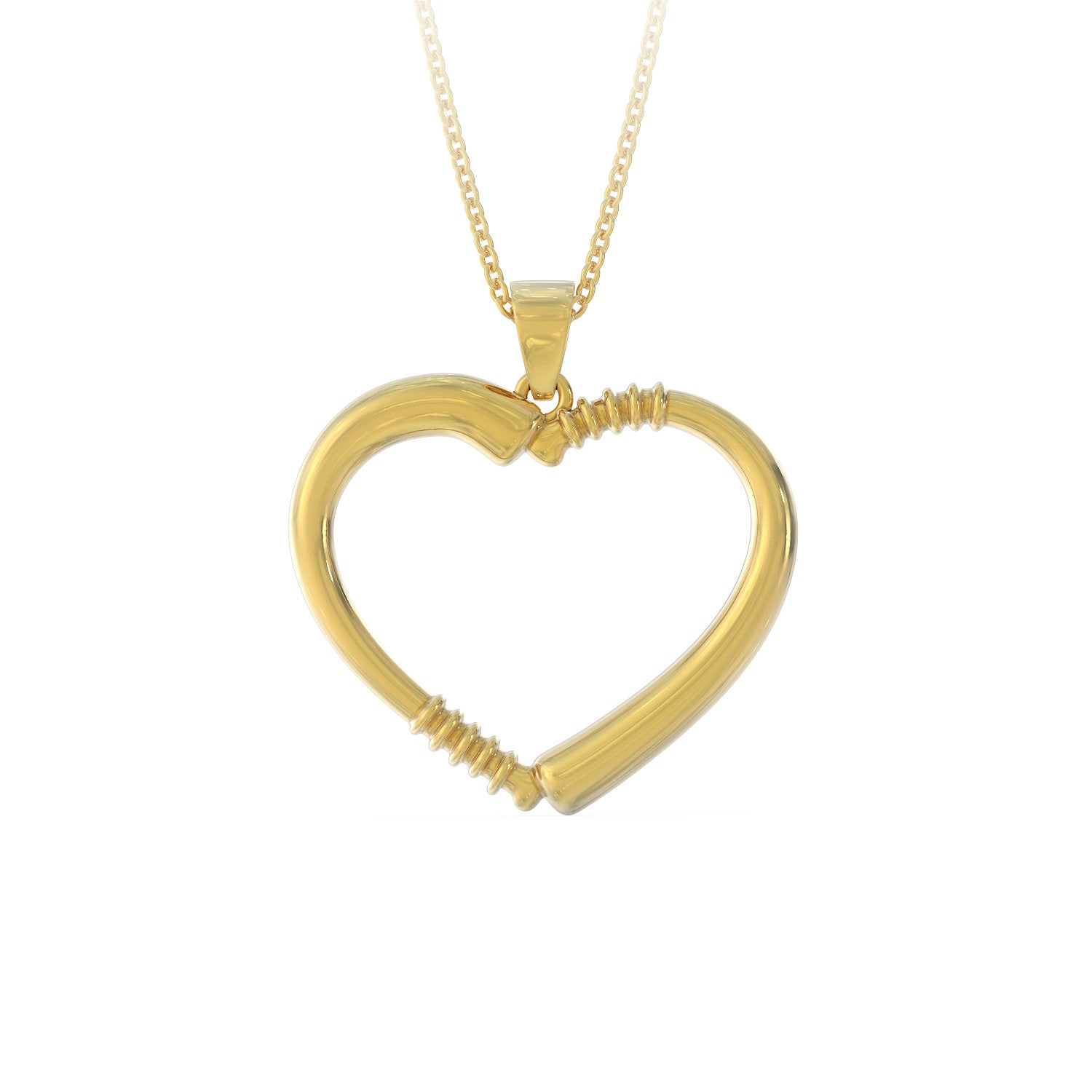 Baseball Bat Heart Necklace - LIMITED EDITION