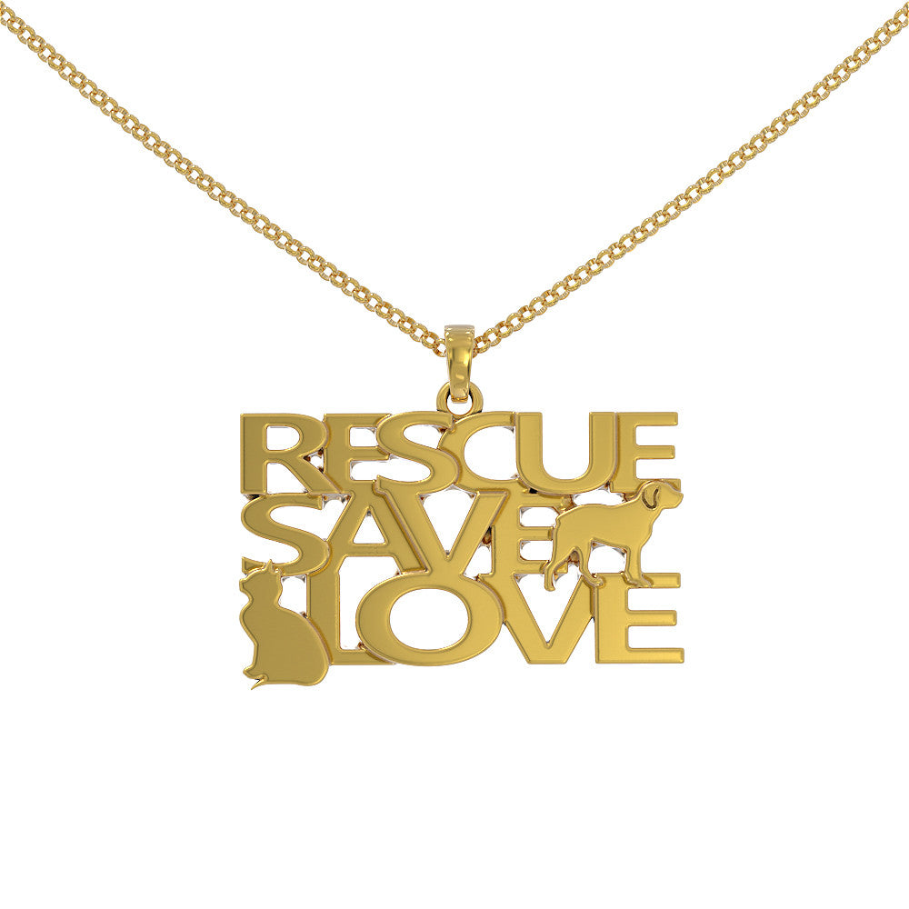 Rescue Save Love Pendant