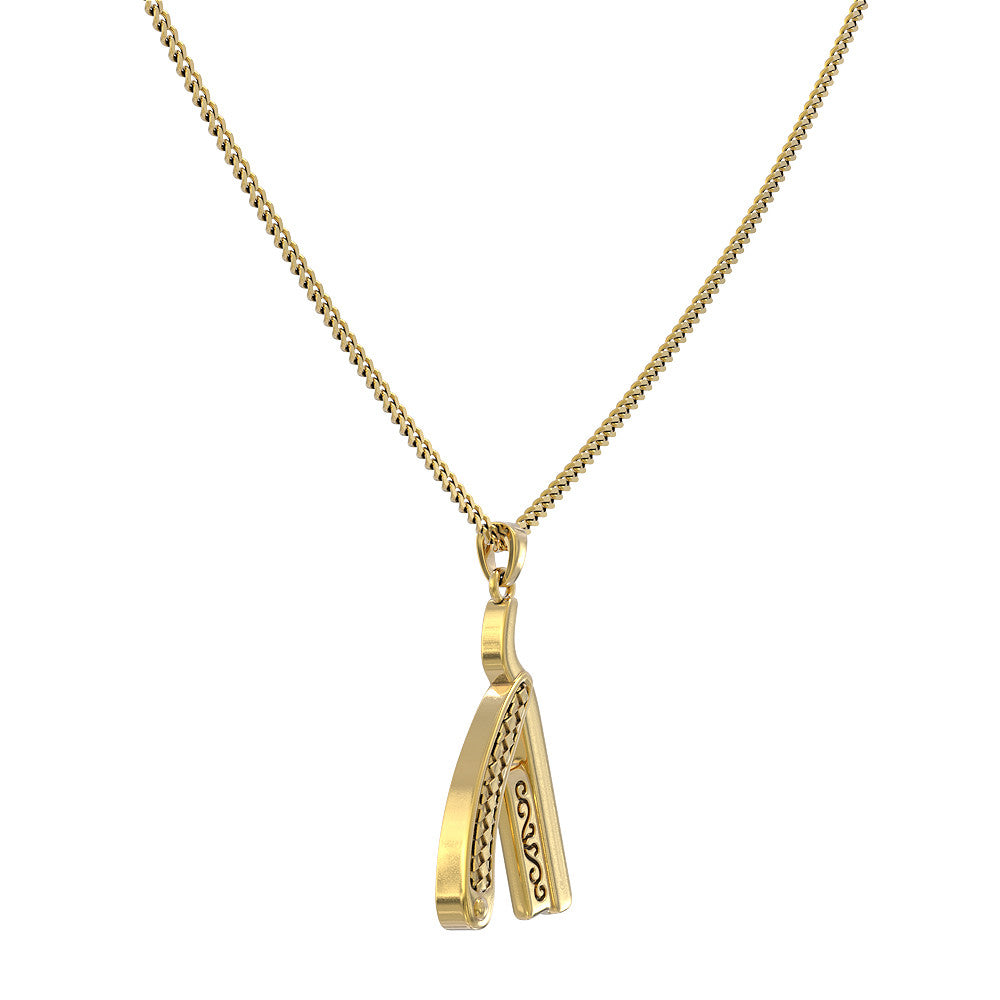 Straight Razor Necklace