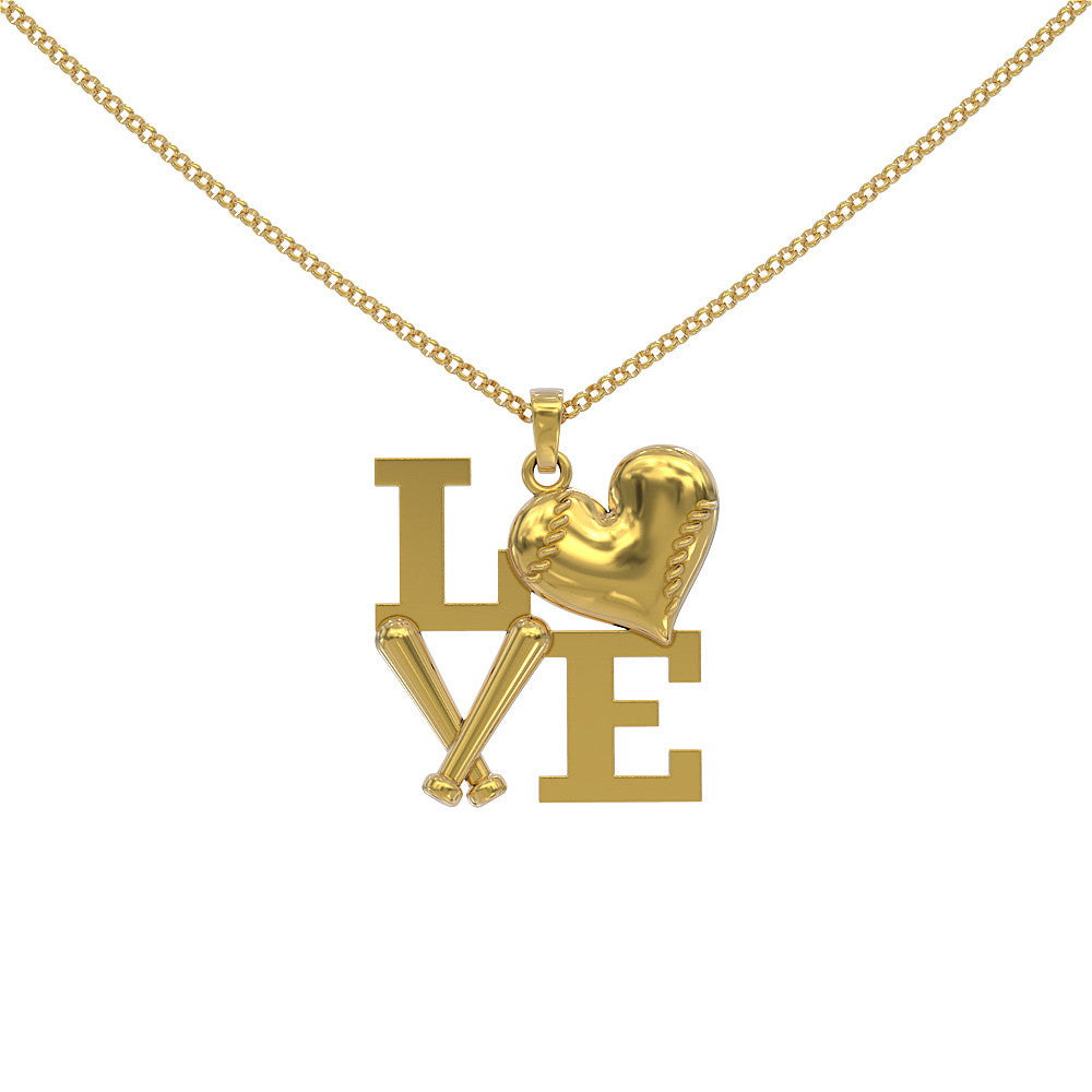 Love Baseball Necklace