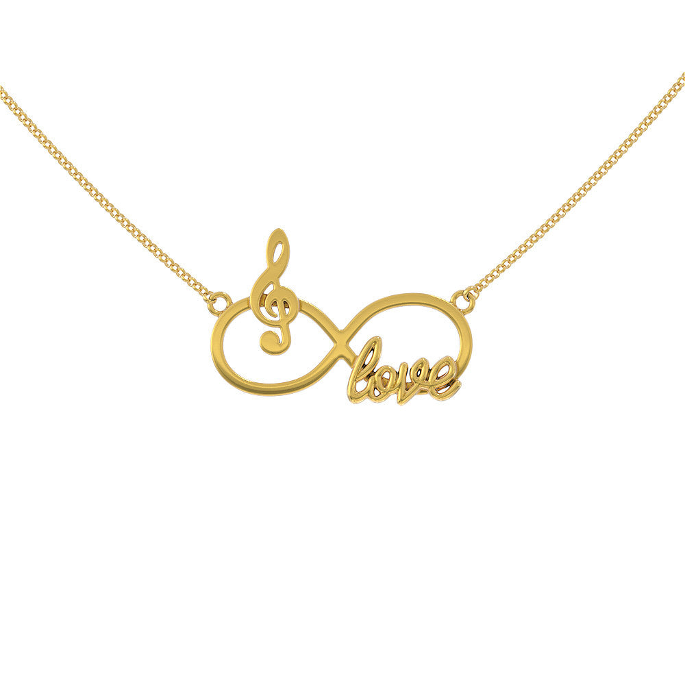 Infinity Music Love Necklace