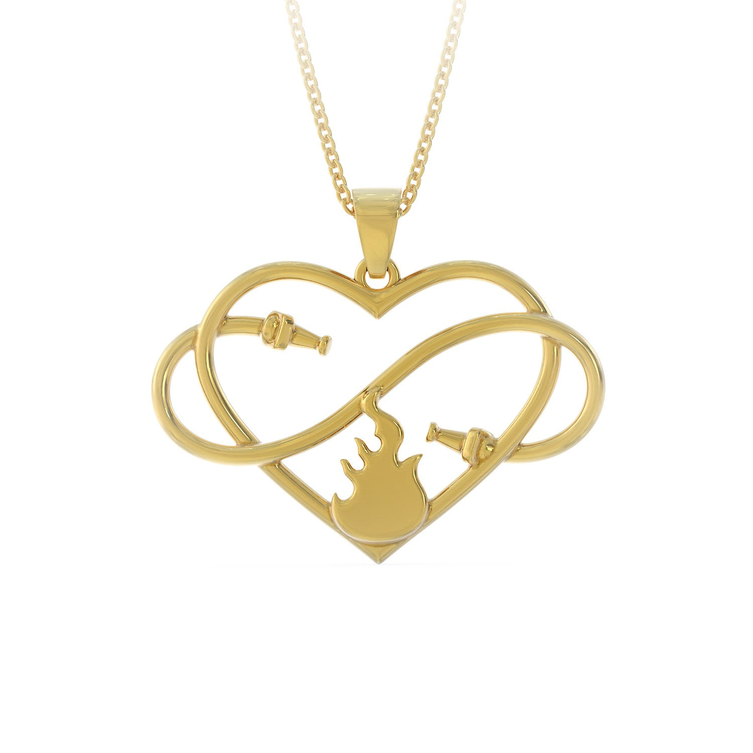 Hearts Belongs To A Firefighter Necklace