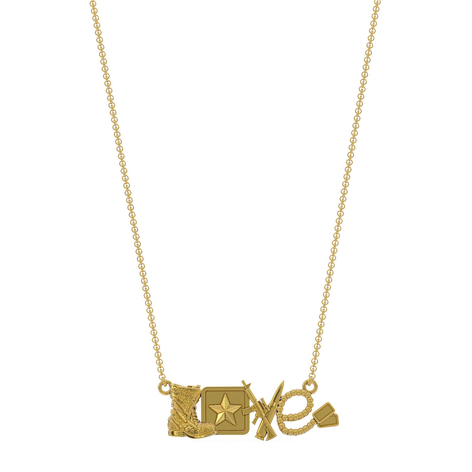 Love Army Necklace
