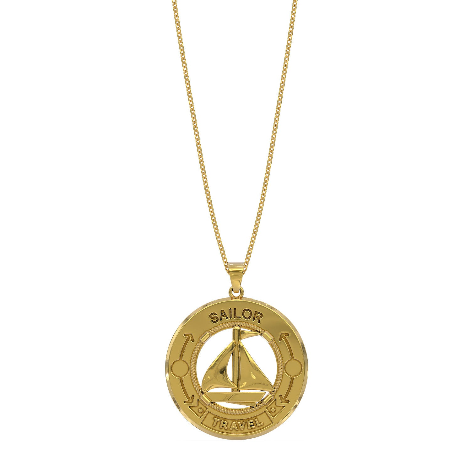 Sailor Get Ocean Travel Necklace