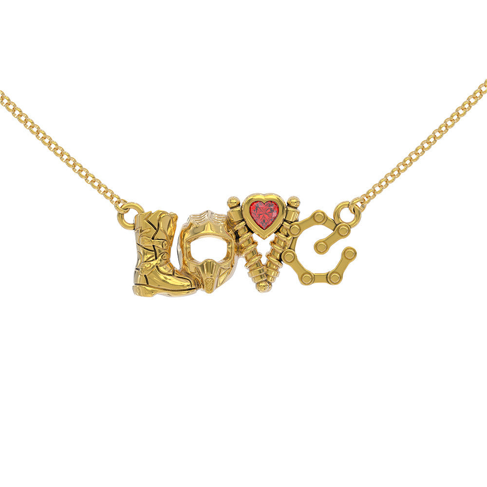 LOVE - Moto Birthstone Pendant STRICTLY LIMITED EDITION