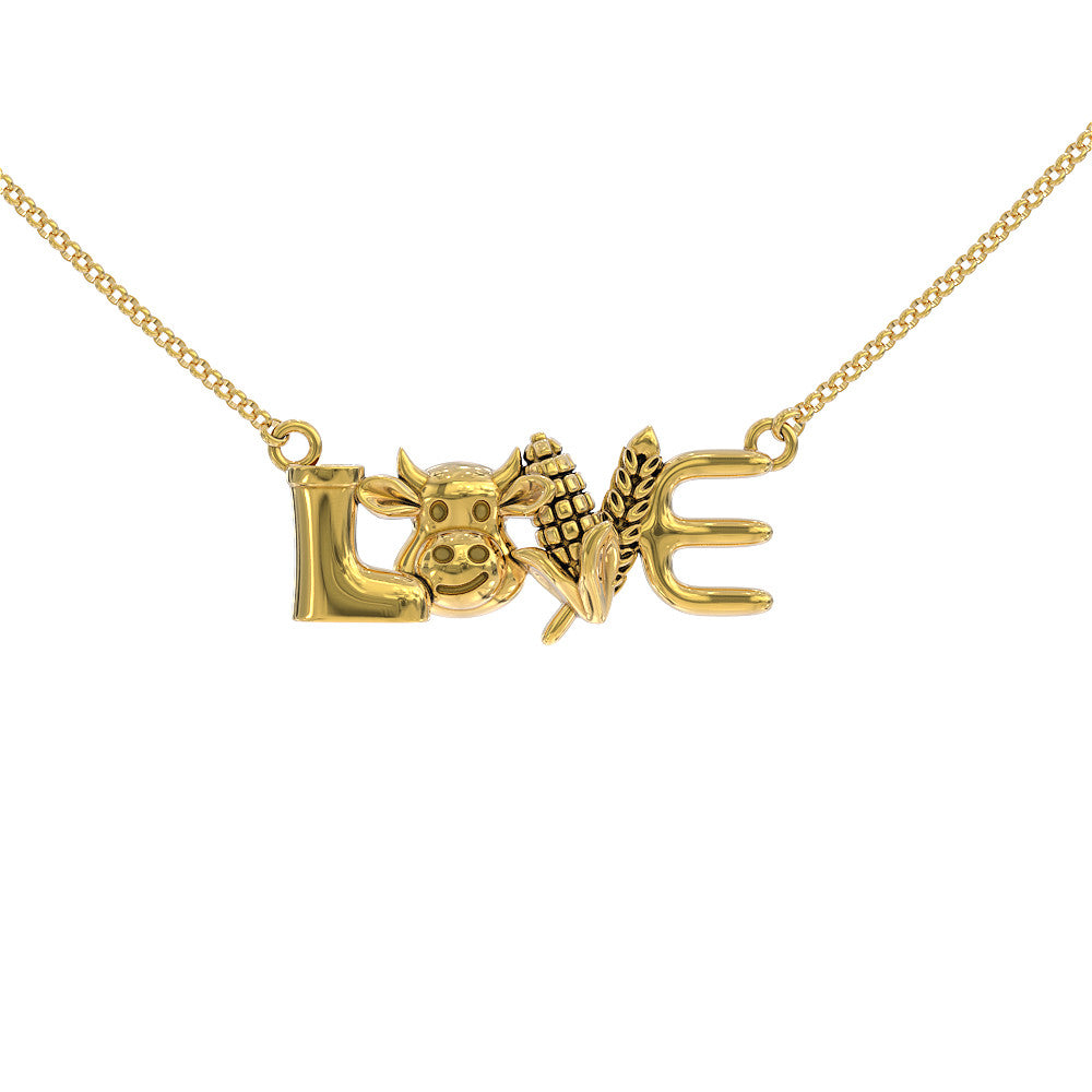 Cow Love Necklace