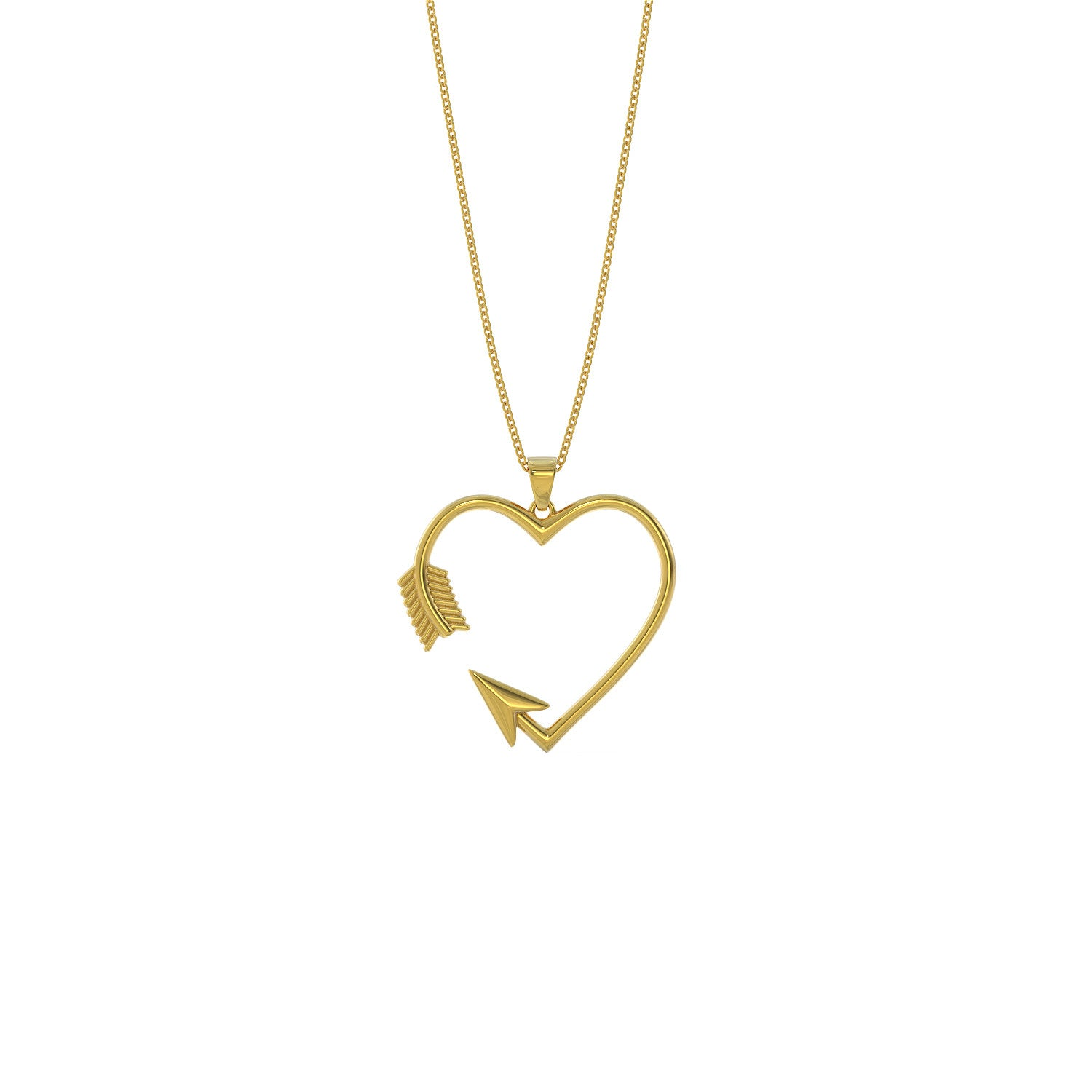 Arrow Heart Necklace