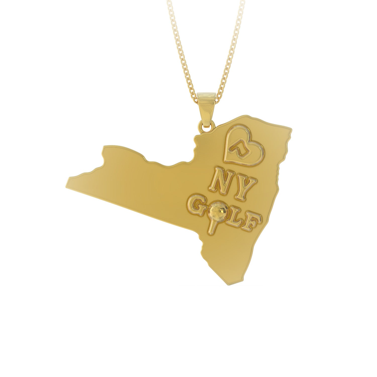 Love New York Golf Necklace
