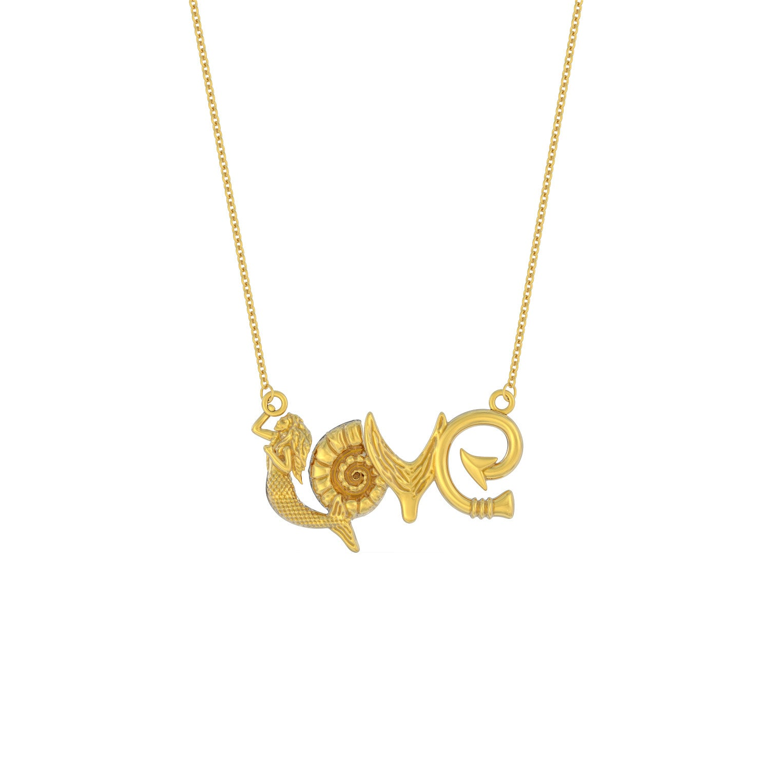 LOVE - Mermaid Necklace