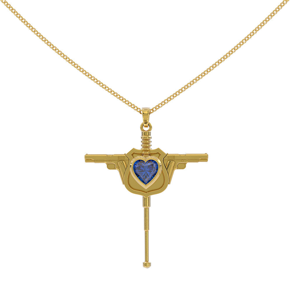 Police Officer's Cross Pendant Necklace