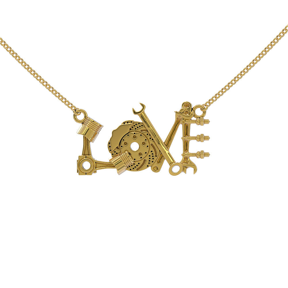 Love Car Parts Necklace