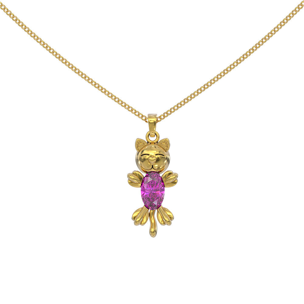 PinkBellyCat Necklace