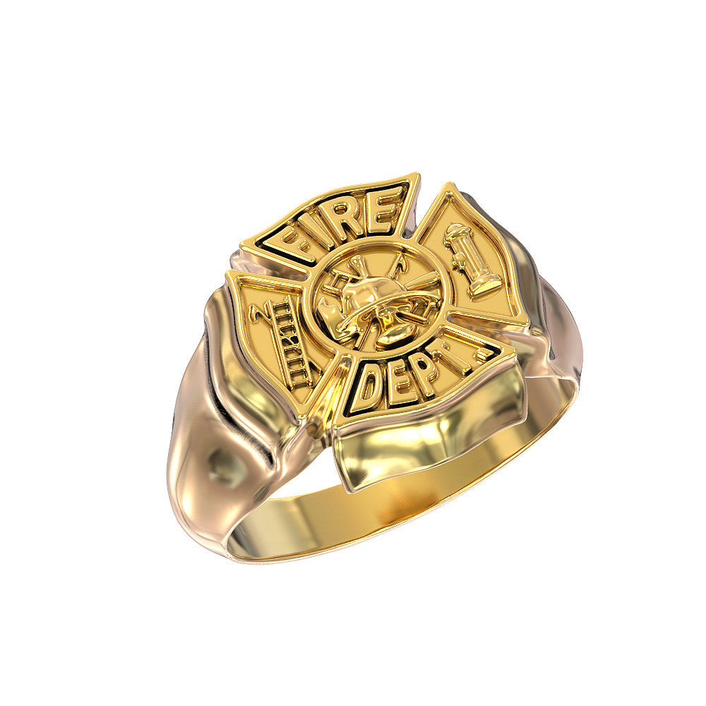 Firefighter Maltese Cross Ring