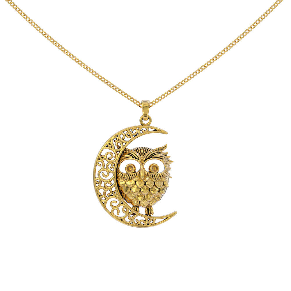 Owl Moon Necklace