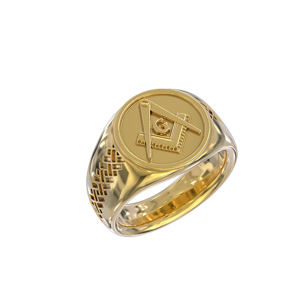Square & Compass Ring