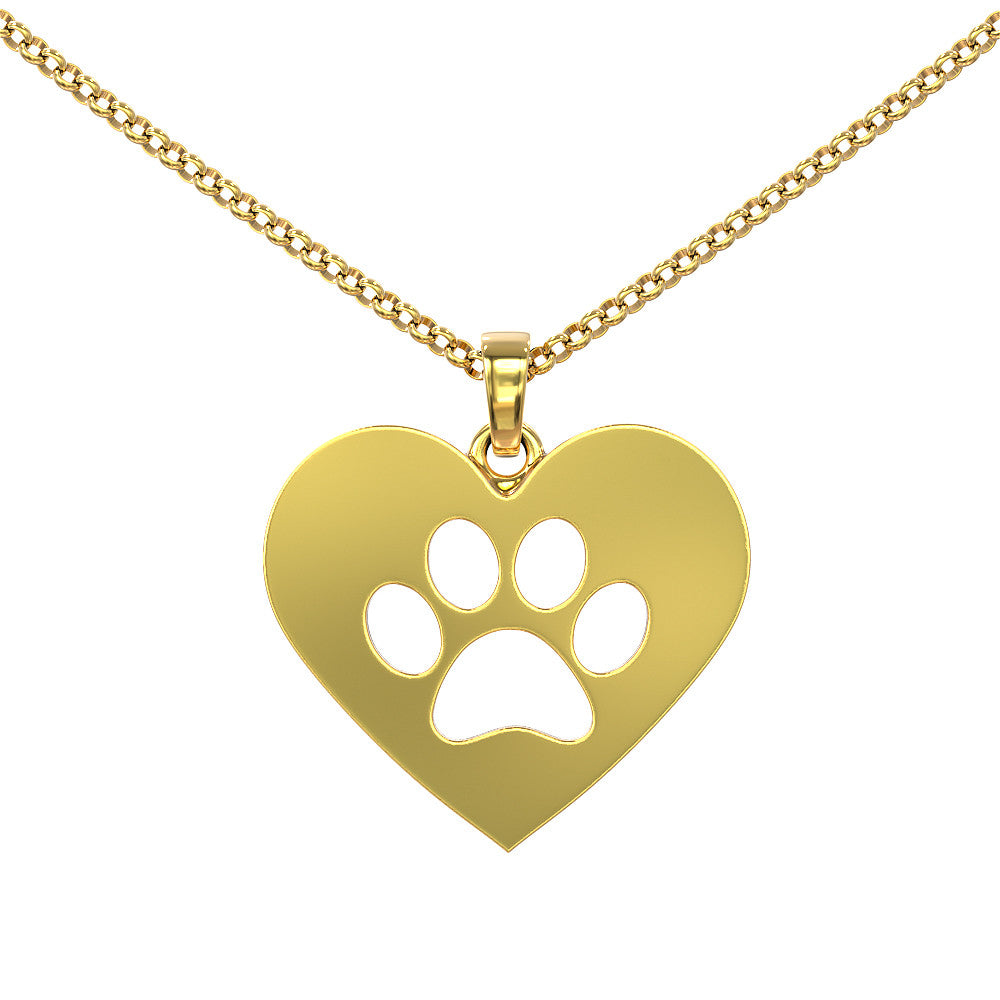 Pawprint Love Pendant by iloveveterinary.com