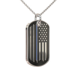 Police Prayer Dog Tag