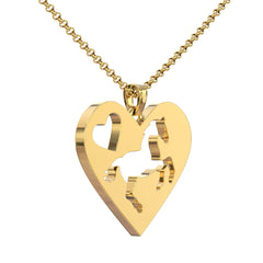 I Heart Horses Pendant Necklace