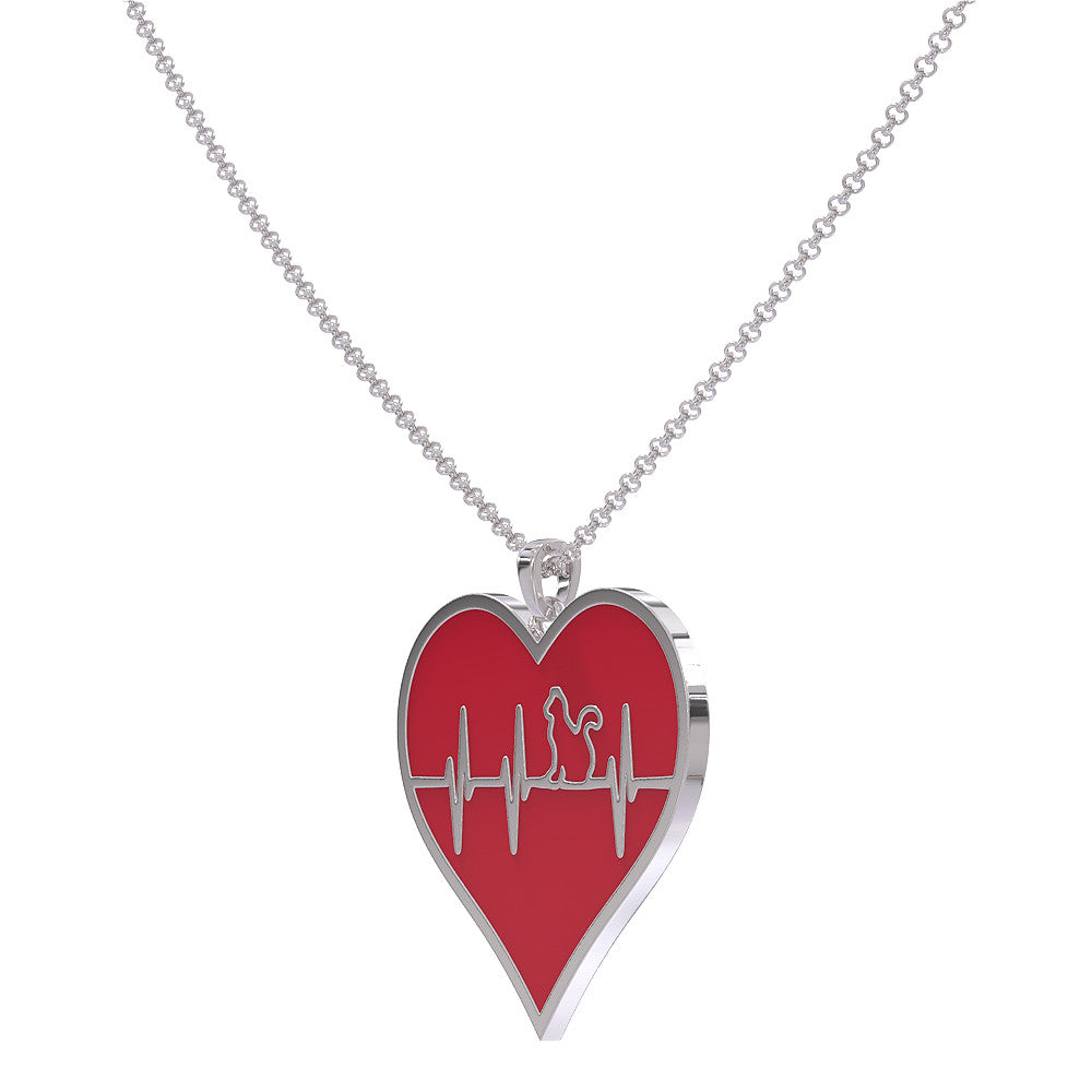 Heart Beat Cat Necklace