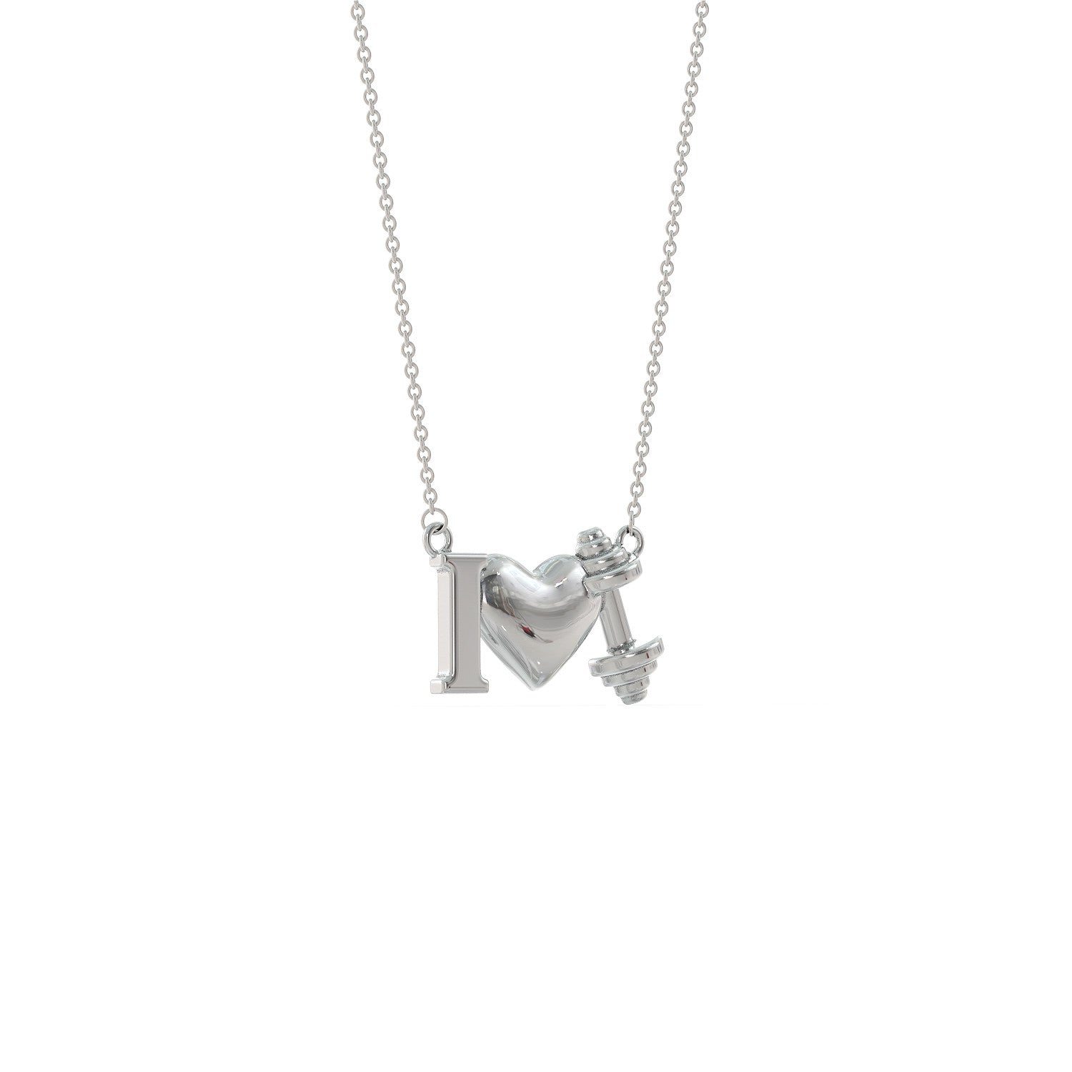 Love Weightlifting Necklace
