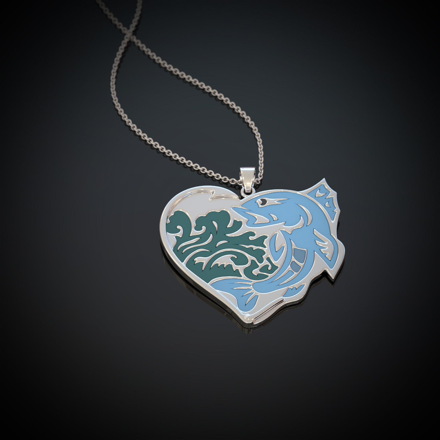 Fishing Heart Necklace