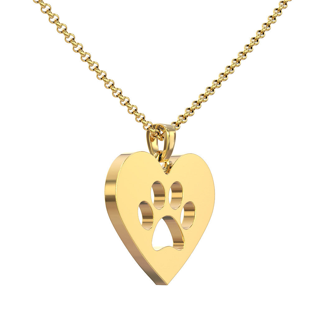 Pawprint Love Pendant
