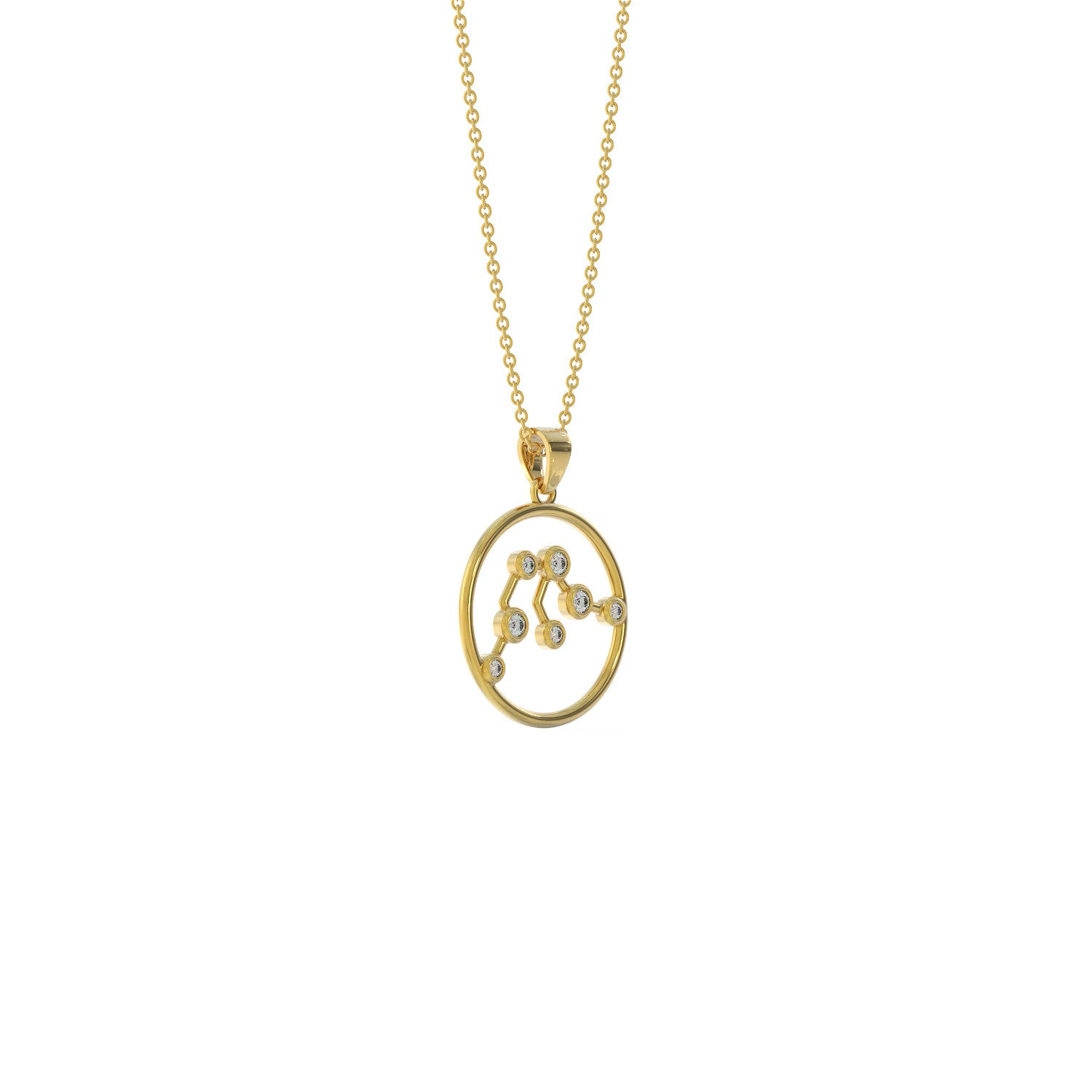 Aquarius Birthstone Pendant Necklace