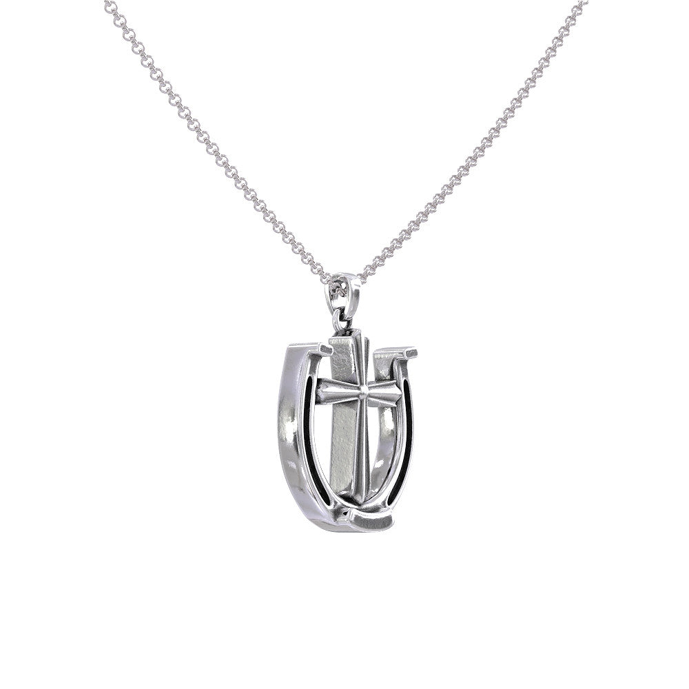 Horse Hoof Cross Necklace