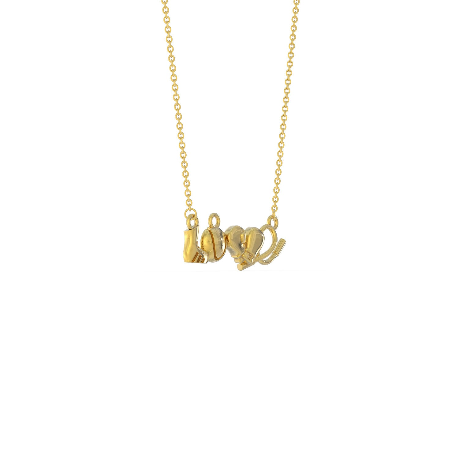 Love Boxing Necklace