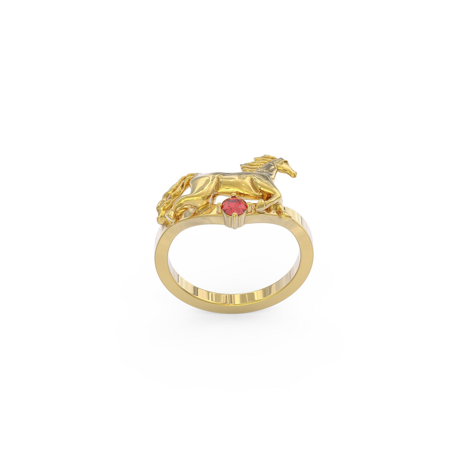 Horse Love Birthstone Ring