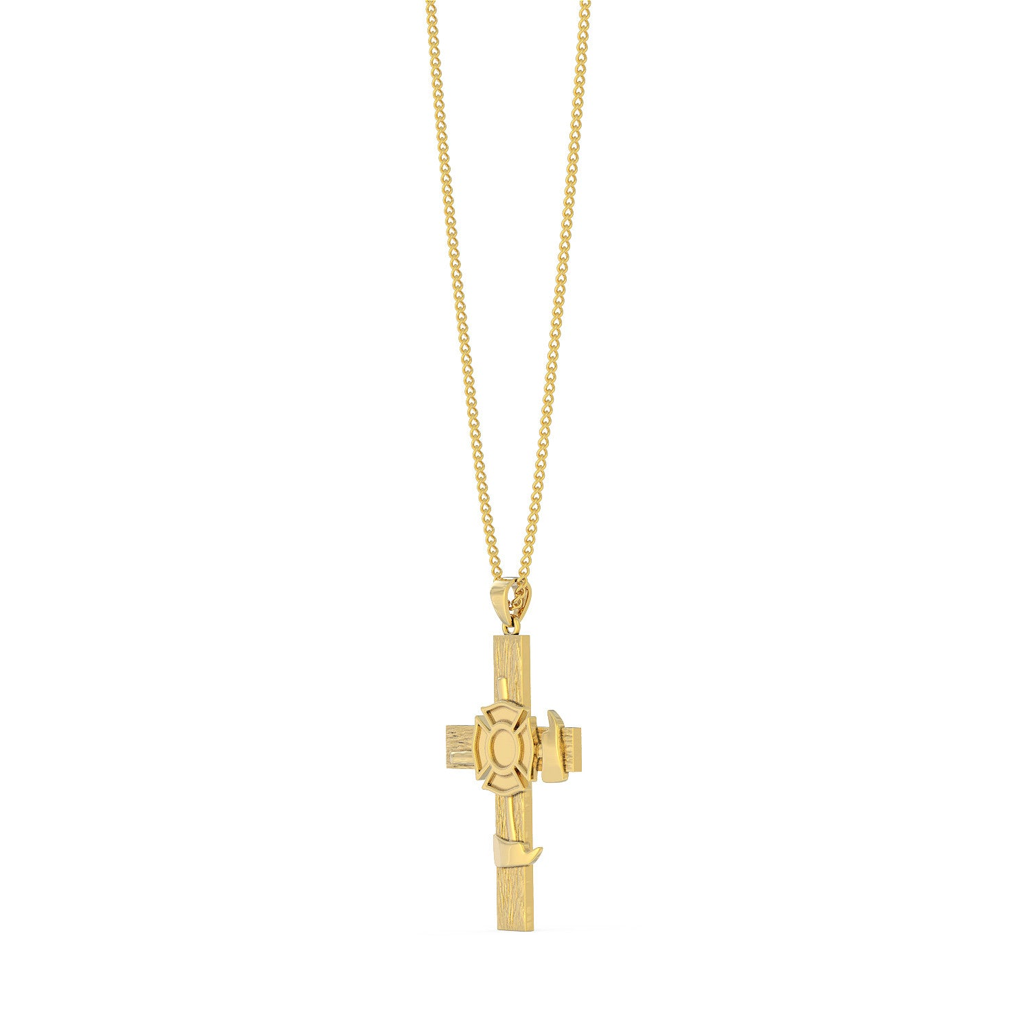Firefighter Cross Pendant Necklace