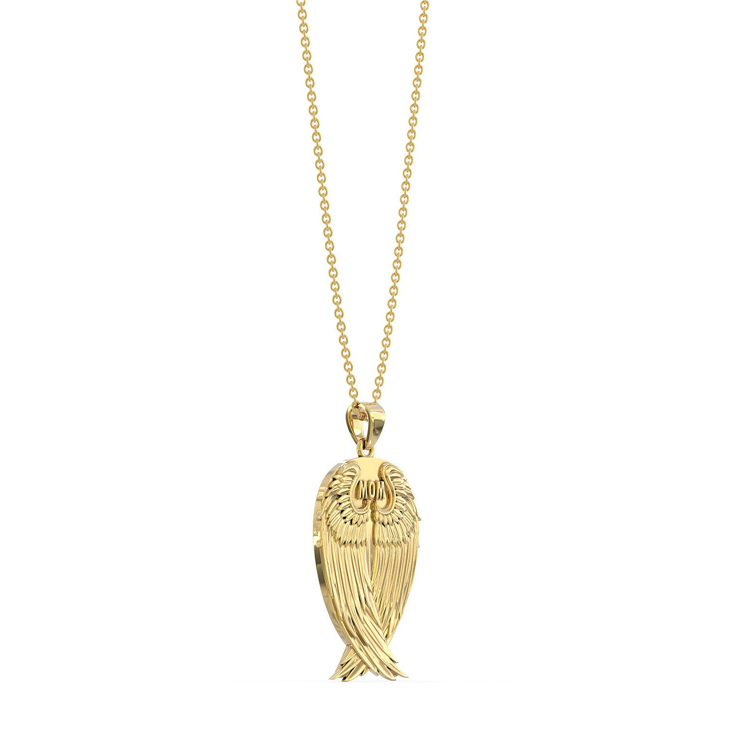 My Mom, My Guardian Angel Necklace