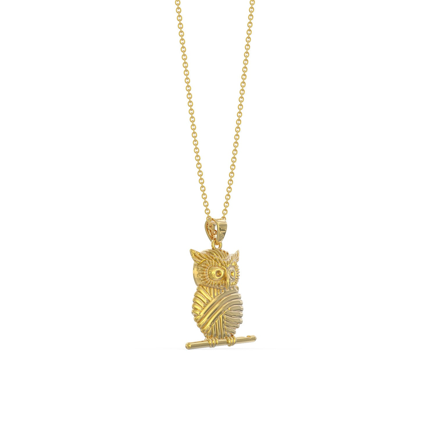 Owl Crochet Design Necklace