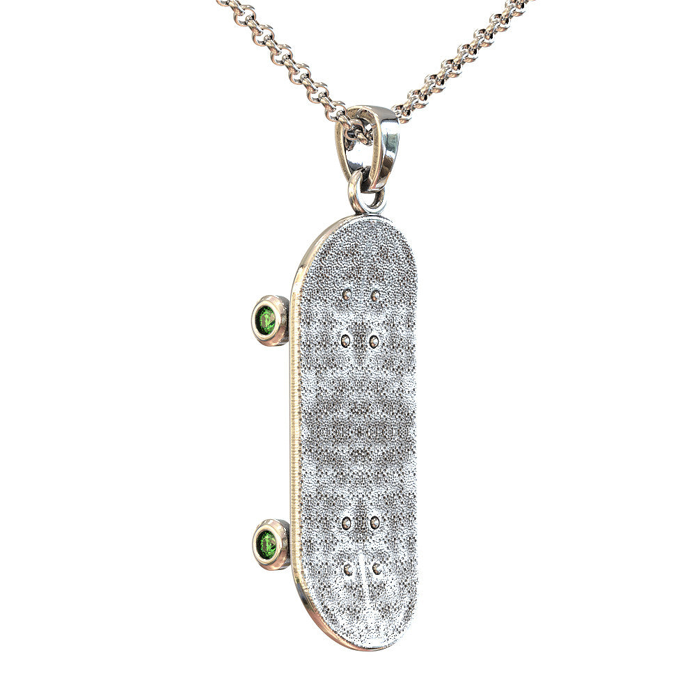 Skateboard Birthstone Necklace  - STRICTLY LIMITED EDITION
