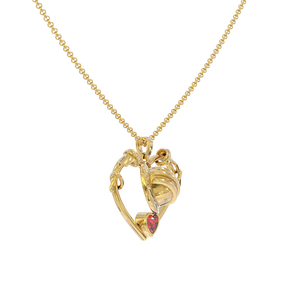 Storm Heart Necklace