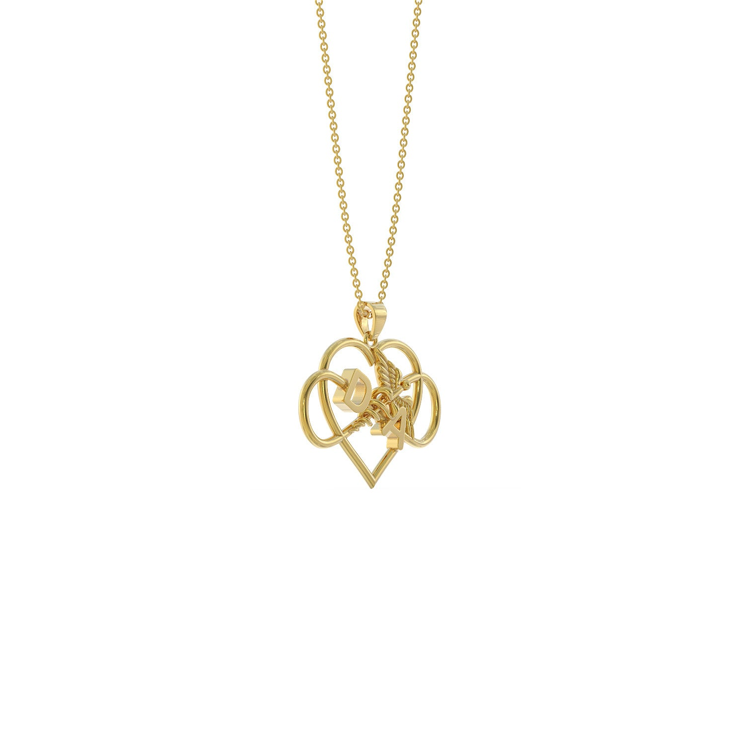DA Heart Necklace