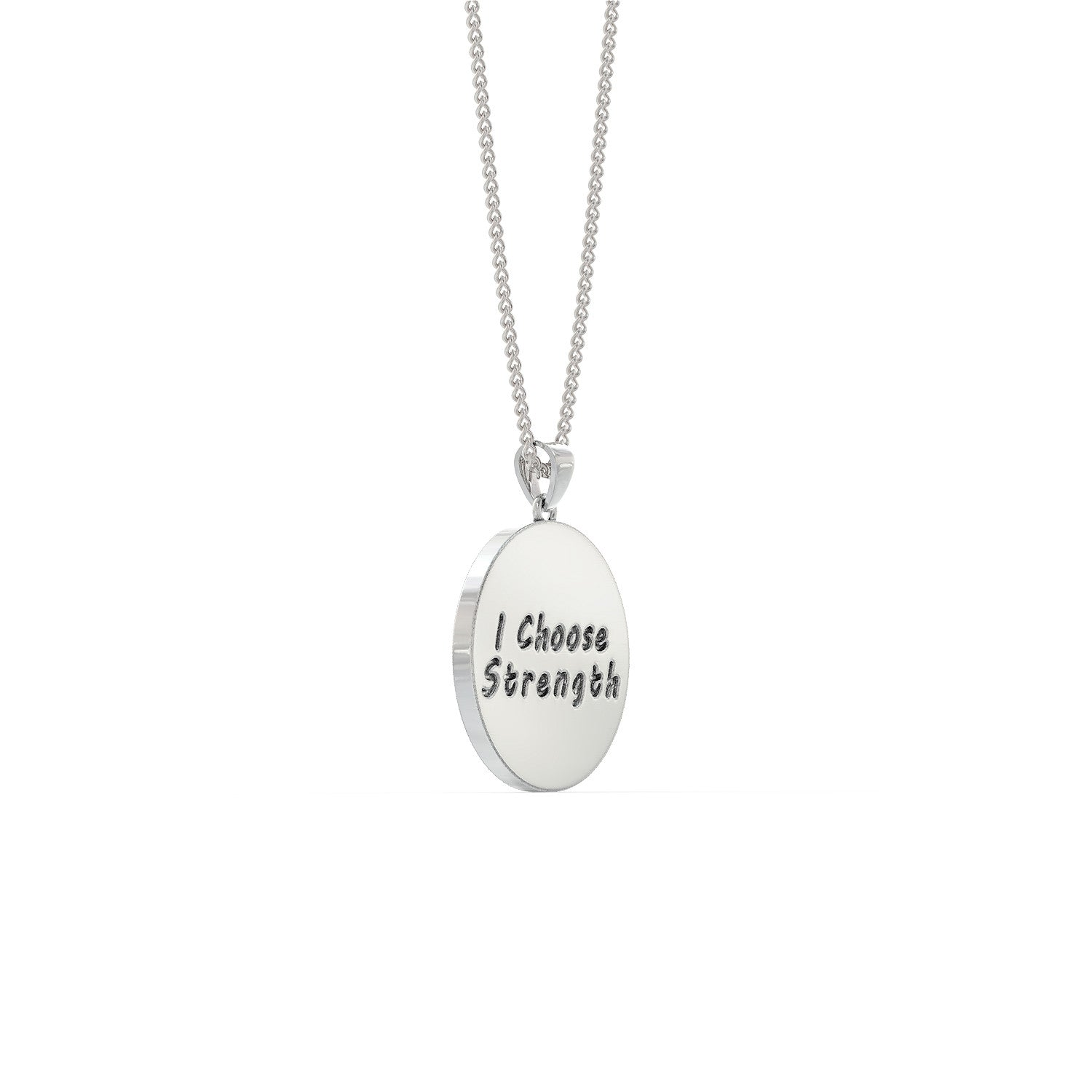 I Choose Strength Barbell Necklace